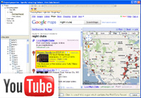 Extract data from google map